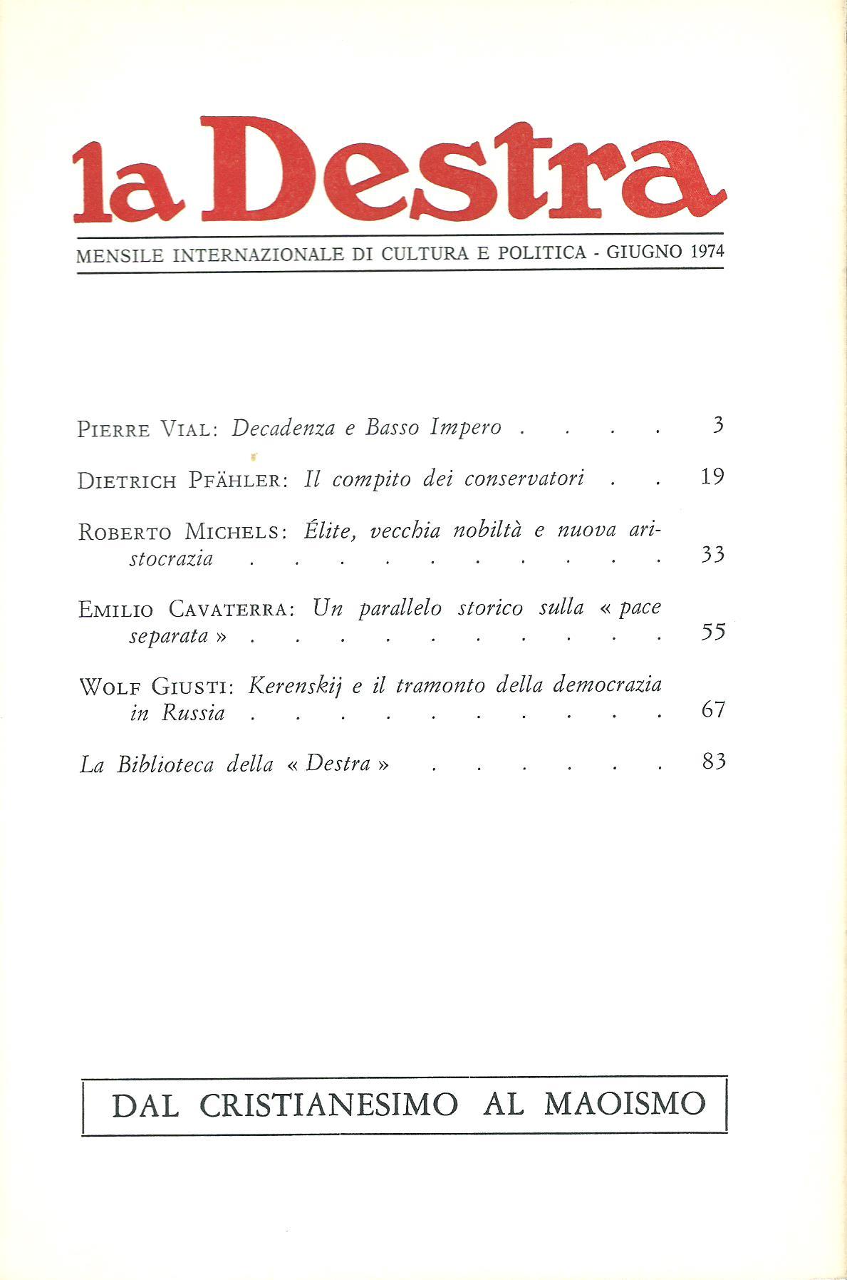 La Destra - Anno IV n. 6