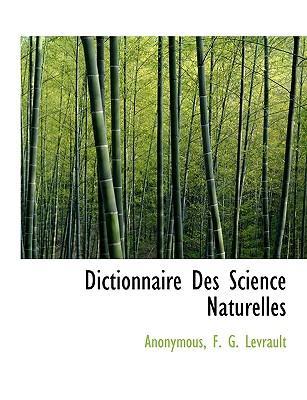 Dictionnaire Des Science Naturelles