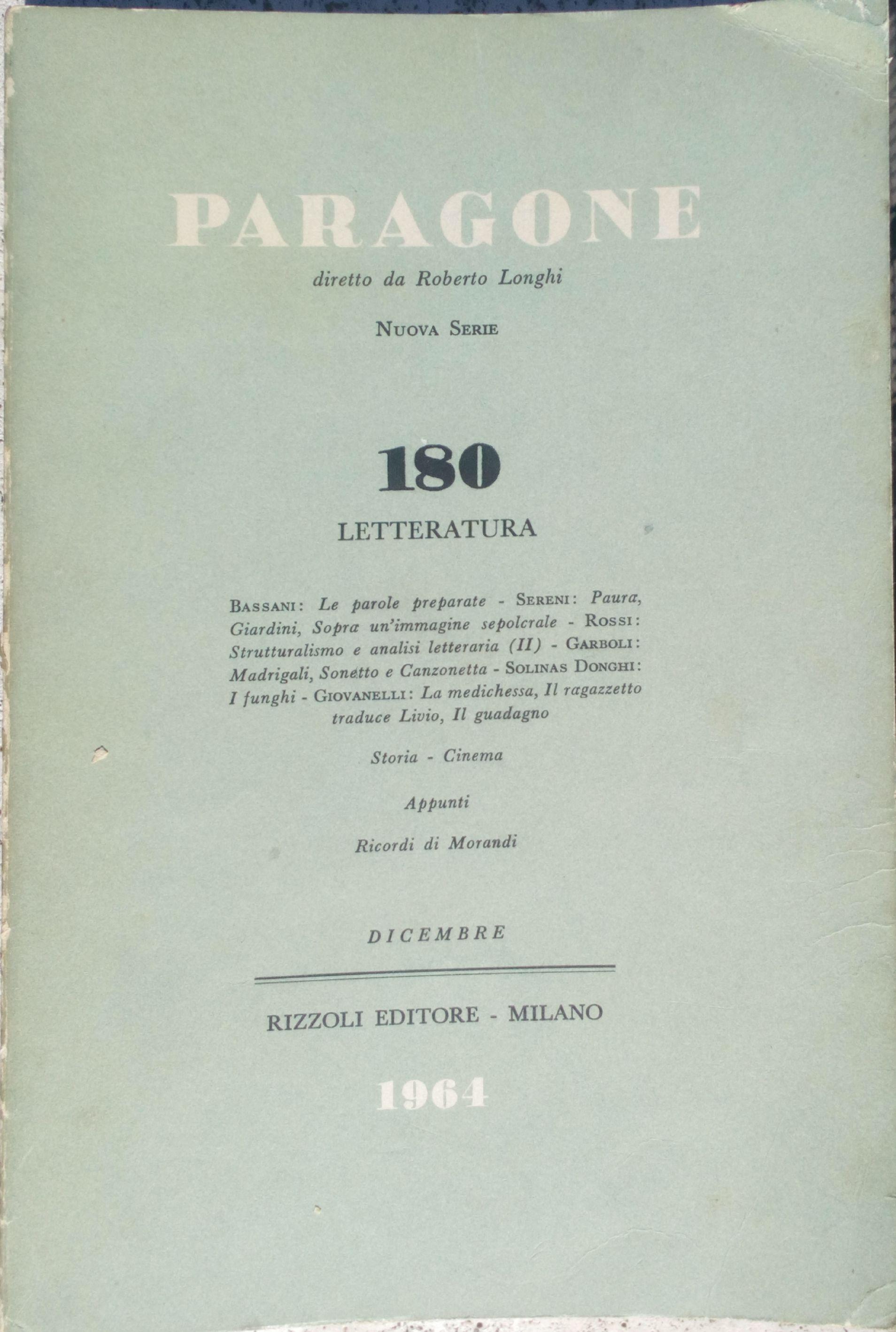 Paragone n. 180