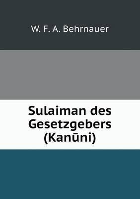Sulaiman Des Gesetzgebers (Kan Ni)