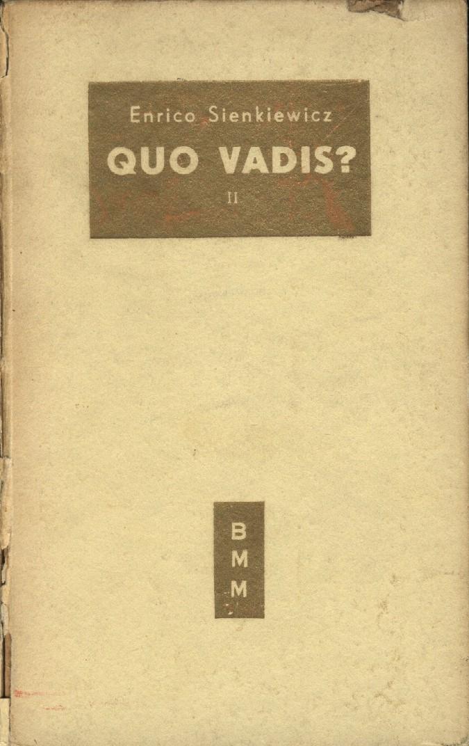 Quo vadis? (volume 2)