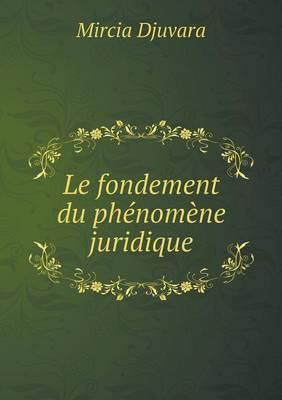 Le Fondement Du Phenomene Juridique