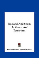 England and Spain Or Valour and Patriotism