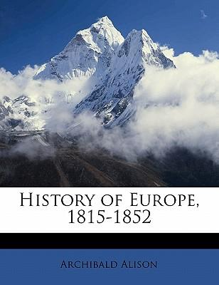 History of Europe, 1815-1852