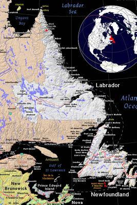 A Color Map of the Province Newfoundland and Labrador in Canada Journal