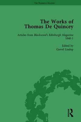 The Works of Thomas De Quincey, Part II vol 12