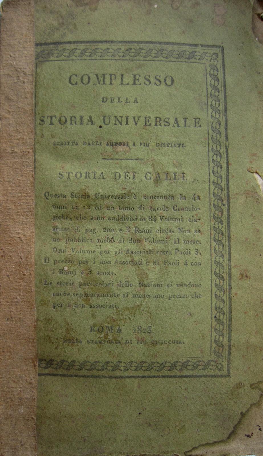 Storia dei Galli nuovamente compilata da D. E. M. con rami e carte geografiche. Volume 1