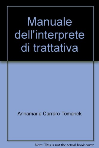 Manuale dell'interprete di trattativa