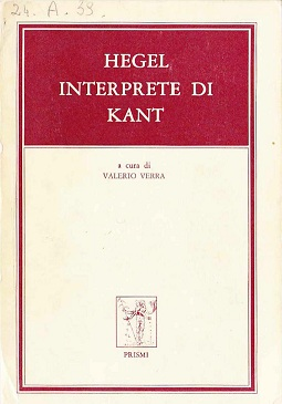 Hegel interprete di Kant
