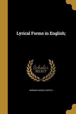 LYRICAL FORMS IN ENGLISH