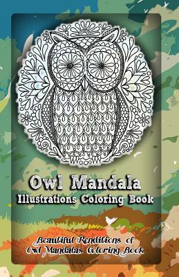 Owl Mandala Illustrations Coloring Book