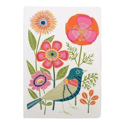 Avian Friends Embroidered Handmade Journal
