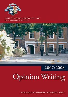 Opinion Writing 2007-08
