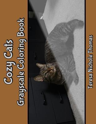 Cozy Cats Grayscale Coloring Book