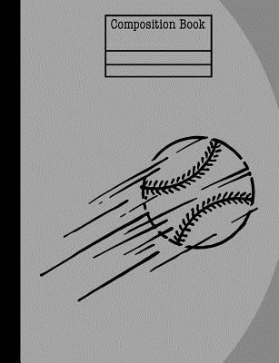 Baseball Composition Notebook - Blank Pages