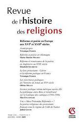 Revue de l'Histoire des Religions - Tome 226