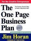 The One Page Business Plan with CD-ROM