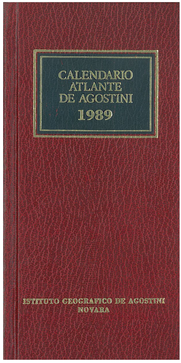 Calendario atlante De Agostini 1989