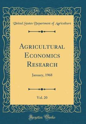 Agricultural Economics Research, Vol. 20