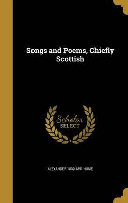 SONGS & POEMS CHIEFLY SCOTTISH