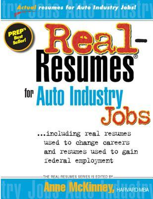 Real-Resumes for Auto Industry Jobs