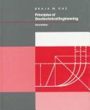 Principles of Geotechnical Engineering