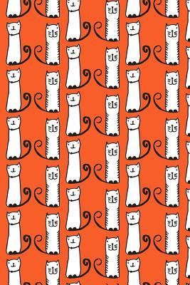 Bullet Journal Notebook For Cat Lovers Funny Tall Cats Pattern 7
