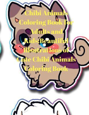 Chibi Animals Coloring Book for Adults and Kids