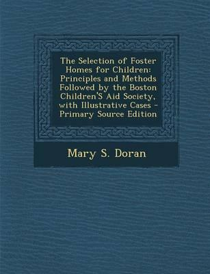 The Selection of Foster Homes for Children