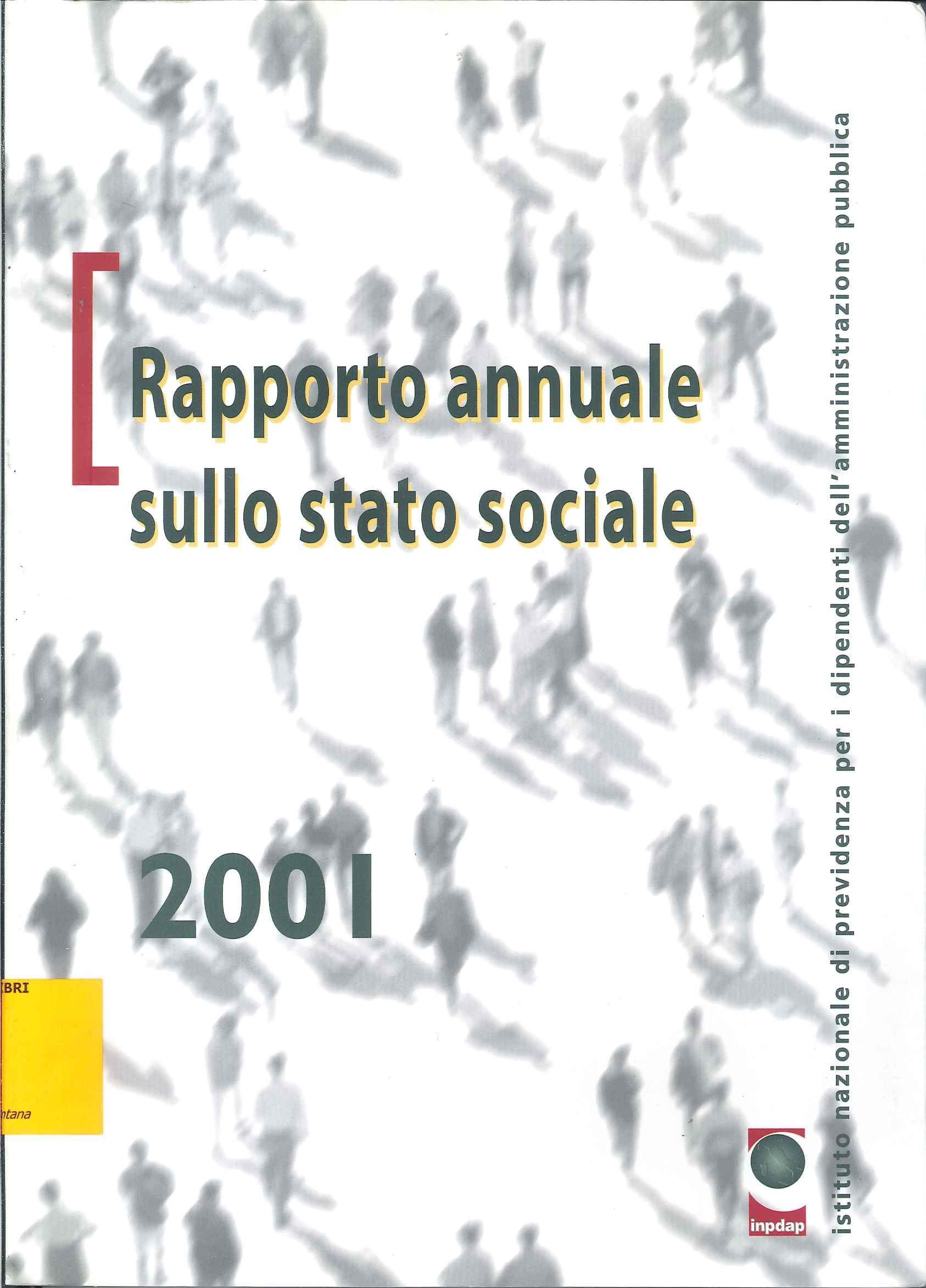 Rapporto annuale sullo stato sociale 2001