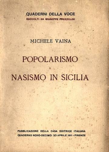 Popolarismo e nasismo in Sicilia
