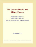 The Unseen World and...