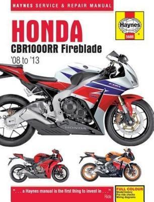 Honda Cbr1000rr Fireblade, '08-'13 Haynes Repair Manual