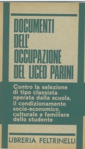 Documenti dell'occupazione del Liceo Parini