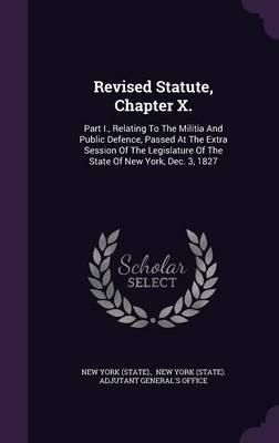 Revised Statute, Cha...