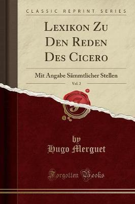 Lexikon Zu Den Reden Des Cicero, Vol. 2