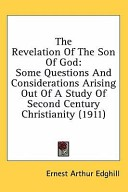 The Revelation Of The Son Of God