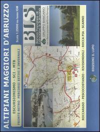 Altipiani maggiori d'Abruzzo. Escursionismo, sci, MTB. Carta escursionistica 25