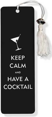 Keep Calm and Have a Cocktail Beaded Bookmark