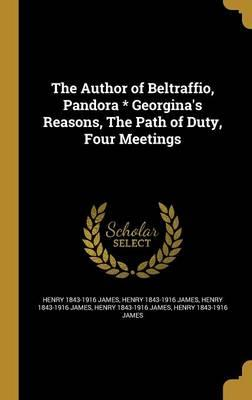 AUTHOR OF BELTRAFFIO...