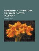 Samantha at Saratoga...