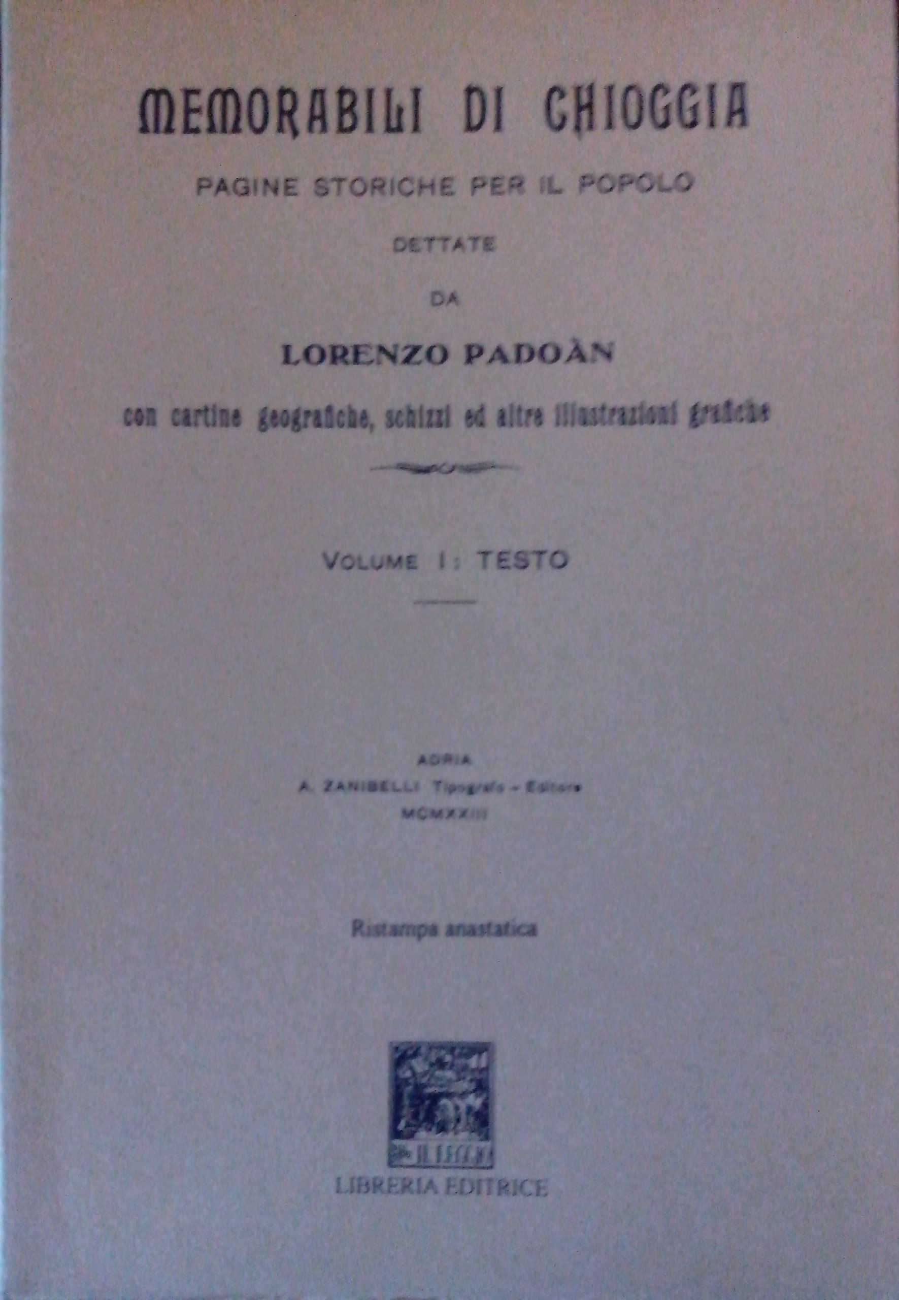 Memorabili di Chioggia (rist