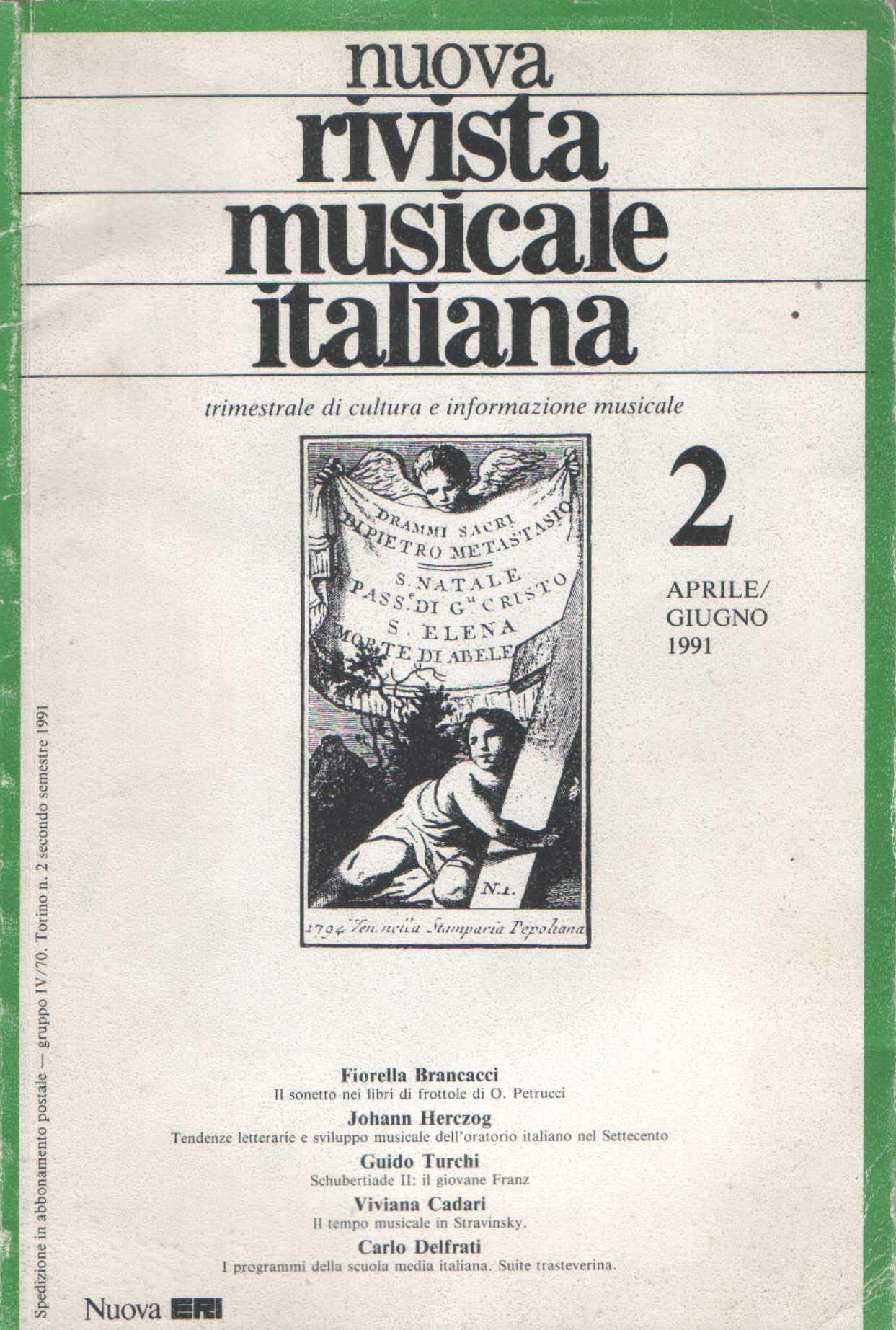 Nuova rivista musicale italiana - n.2/1991