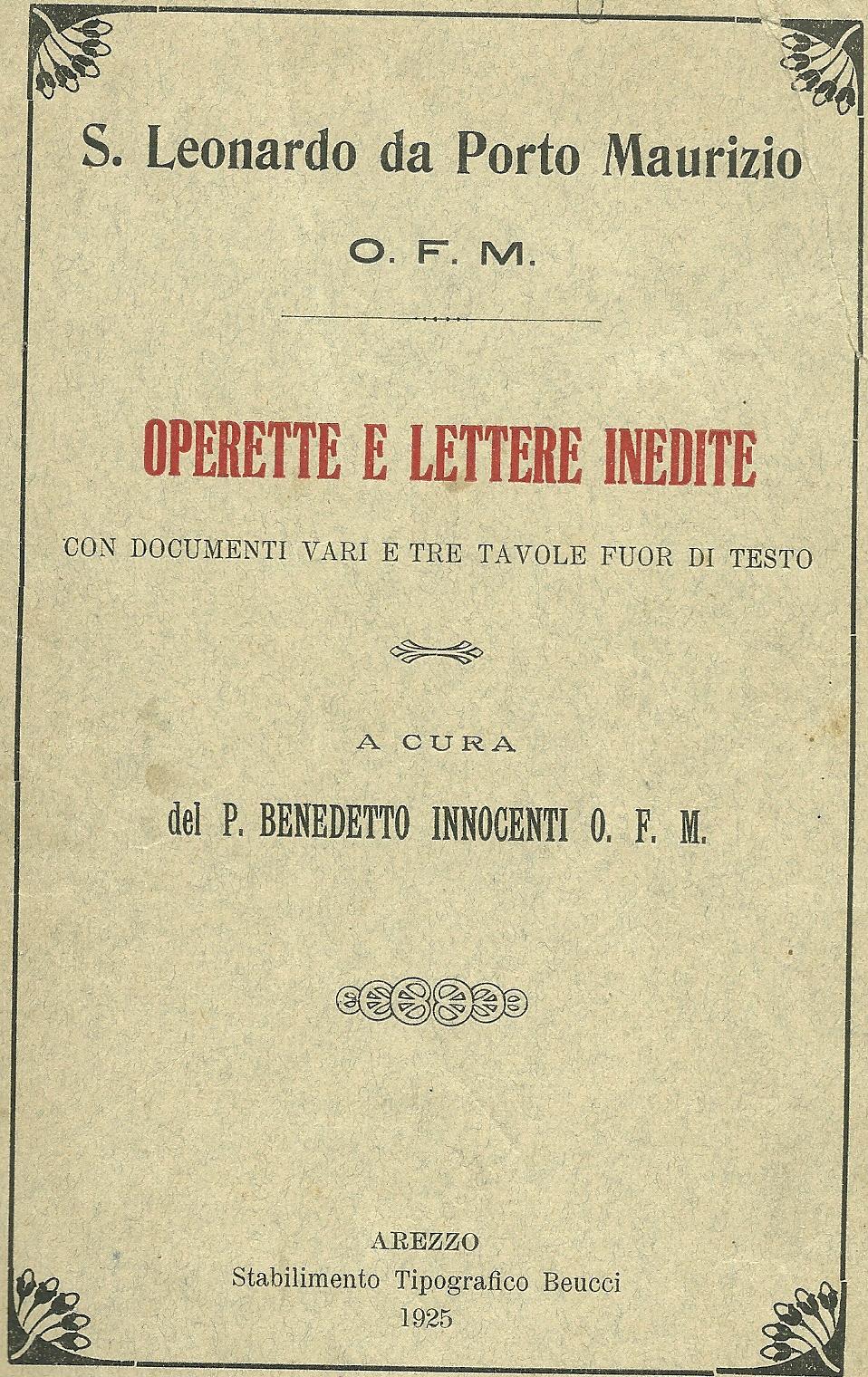 Operette e lettere inedite
