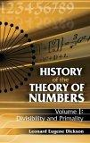 History of the Theory of Numbers, Volume I
