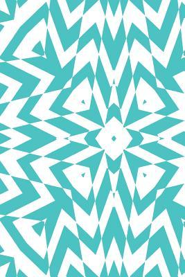 Turquoise and White Geometric Design Notebook
