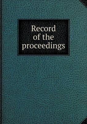 Record of the Proceedings