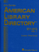 American Library Directory 2011-2012