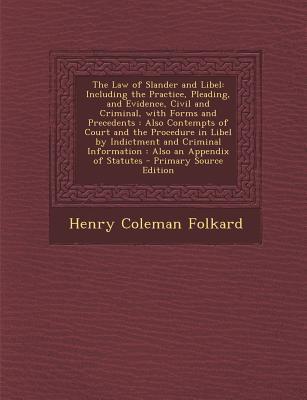 The Law of Slander a...