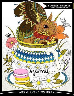Squirrel Adult Coloring Book